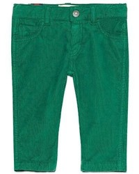 Gucci Straight Leg Stretch Corduroy Pants Green Size 6 36 Months