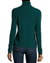 Neiman Marcus Cashmere Turtleneck Sweater Green | Where to buy ...