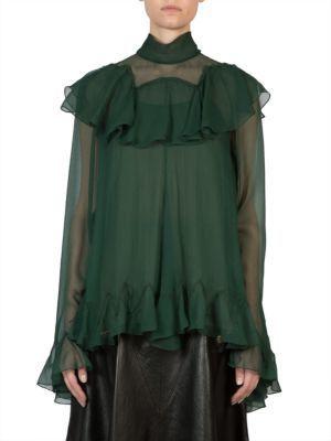 b36a80c96b64c Chloé Chloe Turtleneck Silk Top, $3,550 | Saks Fifth Avenue ...