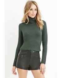 Womens Dark Green Turtlenecks By Forever 21 Womens Fashion