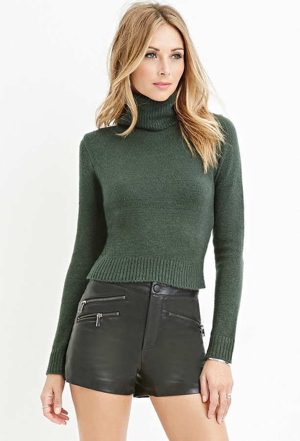 Forever 21 Contemporary Textured Turtleneck Sweater | Where to buy ...
