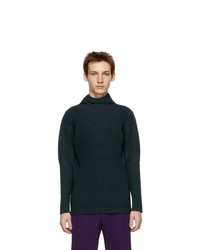 Homme Plissé Issey Miyake Green Monthly Colors November Turtleneck