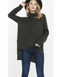 Marled Extreme Hi Lo Hem Turtleneck Sweater
