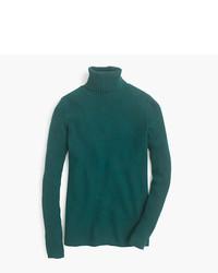 J.Crew Merino Turtleneck Sweater With Ribbed Sleeves