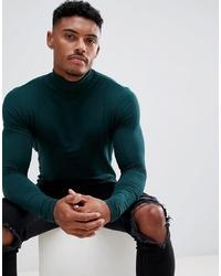 13345dc5ba6d3a Men's Dark Green Turtlenecks from Asos   Men's Fashion   Lookastic.com