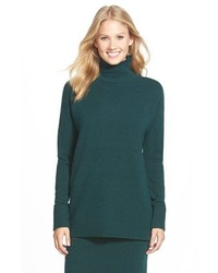 Petite halogen mock turtleneck sweater medium 380032