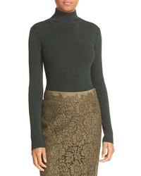 Diane von Furstenberg Tess Metallic Turtleneck Sweater