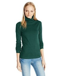 Three Dots Long Sleeve Turtleneck Cotton Knits