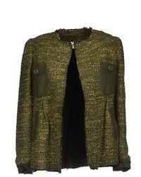 Dark Green Tweed Jacket