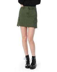 Joe's Military High Waist Twill Miniskirt