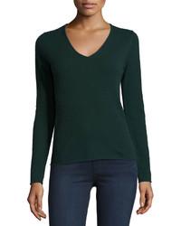 Dark Green V-neck Sweaters for Women | Women's Fashion