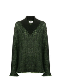 MM6 MAISON MARGIELA Contrast Ribbed Knit Sweater