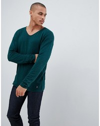 Tom Tailor Knitted Jumper In Wool Blend With Raw Edge Neck