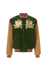 Gucci Angry Cat And Embroidered Bomber Jacket