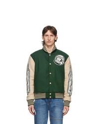Billionaire Boys Club Green Astro Varsity Jacket