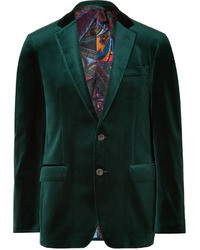 Dark Green Velvet Blazers for Men | Men's Fashion