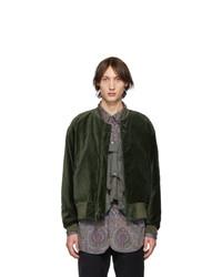 Engineered Garments Green Velvet Bomber Jacket