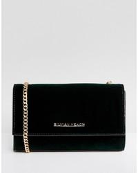 Dark Green Velvet Crossbody Bag