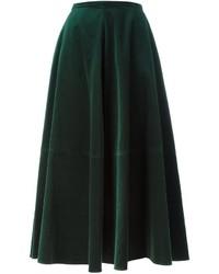 MM6 MAISON MARGIELA Velvet Maxi Skirt