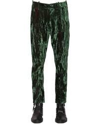 Ann Demeulemeester 18cm Iridescent Crushed Velvet Pants