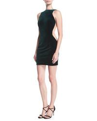 Halter low back sleeveless velvet cocktail dress medium 6697755