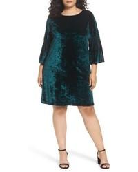 Plus size bell sleeve velvet shift dress medium 6697746