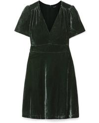 Madewell Crushed Velvet Mini Dress