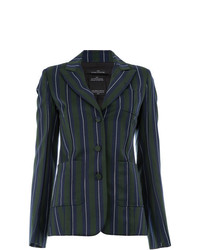 Rokh Striped Fitted Jacket