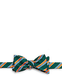 Ike Behar Striped Silk Cotton Bow Tie