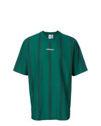 9cf82fbe5c Dark Green Vertical Striped Crew-neck T-shirts for Men | Men's ...