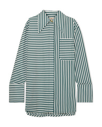 Marni Oversized Striped Cotton Poplin Shirt
