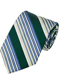 Fairfax Diagonal Striped Necktie Green
