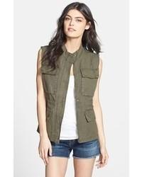 Sanctuary Linen Blend Cargo Vest