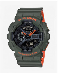 Express G Shock Layered Green Watch