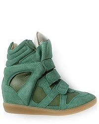 Dark green wedge sneakers original 4914770