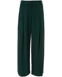 Dark Green Wide Leg Pants