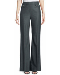 St. John Collection Fil A Fil Flare Leg Suiting Pants