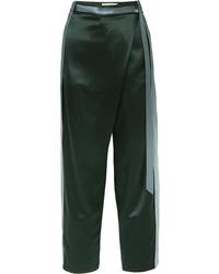 Dion Lee Striped Silk Satin Pants