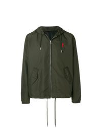 AMI Alexandre Mattiussi Hooded Zipped Jacket