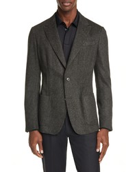 Z Zegna Slim Fit Solid Wool Blend Sport Coat