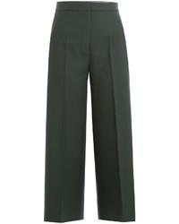 Cropped virgin wool wide leg pants medium 824612