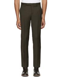 Green wool trousers medium 1157261