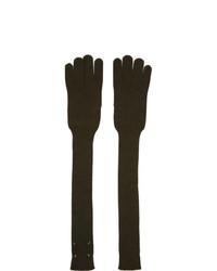 Dark Green Wool Gloves