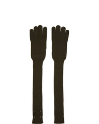 Maison Margiela Green Wool Gauge Long Gloves