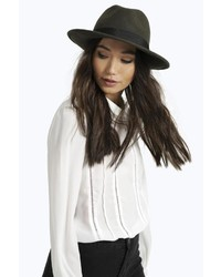 Boohoo Boutique Frances 100% Wool Fedora Hat