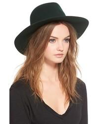 Janessa Leone Emery Flat Bar Wool Hat