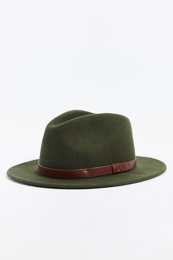 e3bf250a685 ... Green Wool Hats Brixton Messer Fedora Hat ...