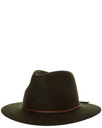 Brixton The Wesley Fedora In Moss