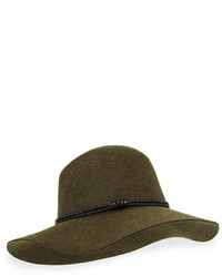 San Diego Hat Company Wide Brimmed Floppy Fedora Hat Forest Green