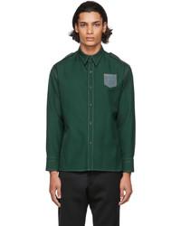 Maison Margiela Green Wool Twill Shirt